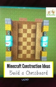 Looking for Minecraft construction ideas? This chessboard is easy to make and a lot of fun to build!