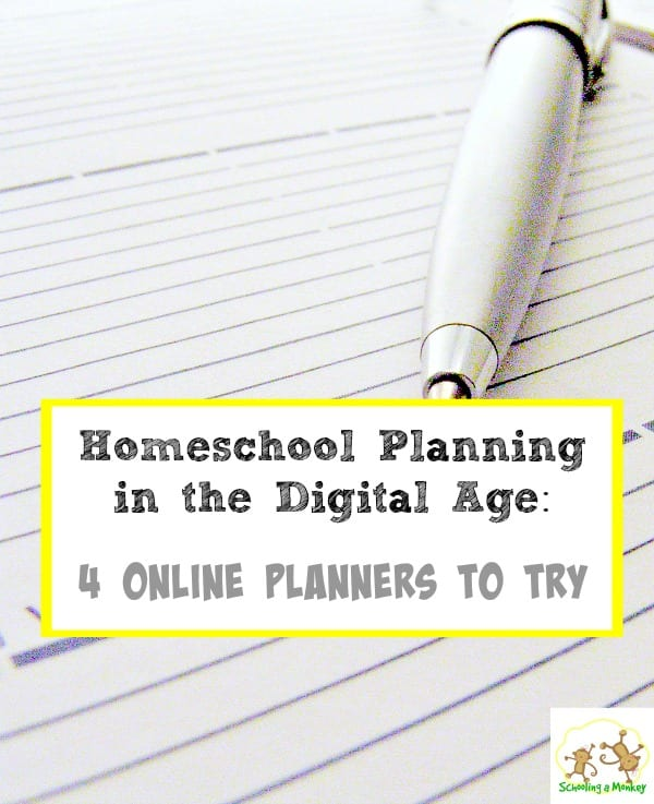 Looking for a computer or phone-based homeschool planner? Homeschool planning in the digital age is easier with these four online planners.