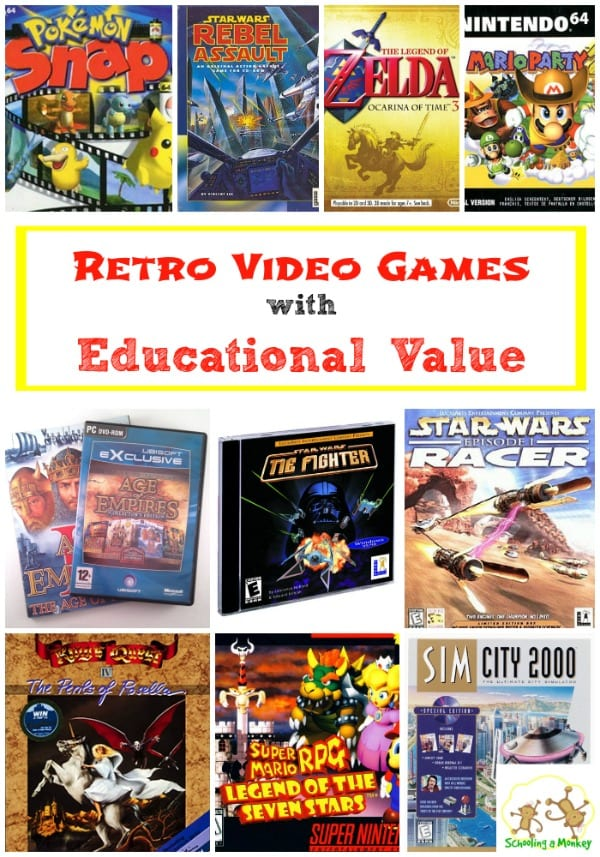 Retro Video Games for Kids with Educational Value