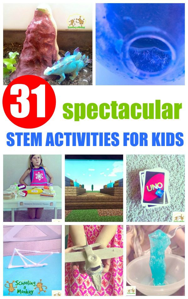 Looking for ideas for STEM activities for kids? Look no further than these 31 simple and fun STEM projects for kids that will make your STEM activities and STEM experiments fun. Kids will have a blast with these creative STEM projects! #stemactivities #stem #science #kidsactivities
