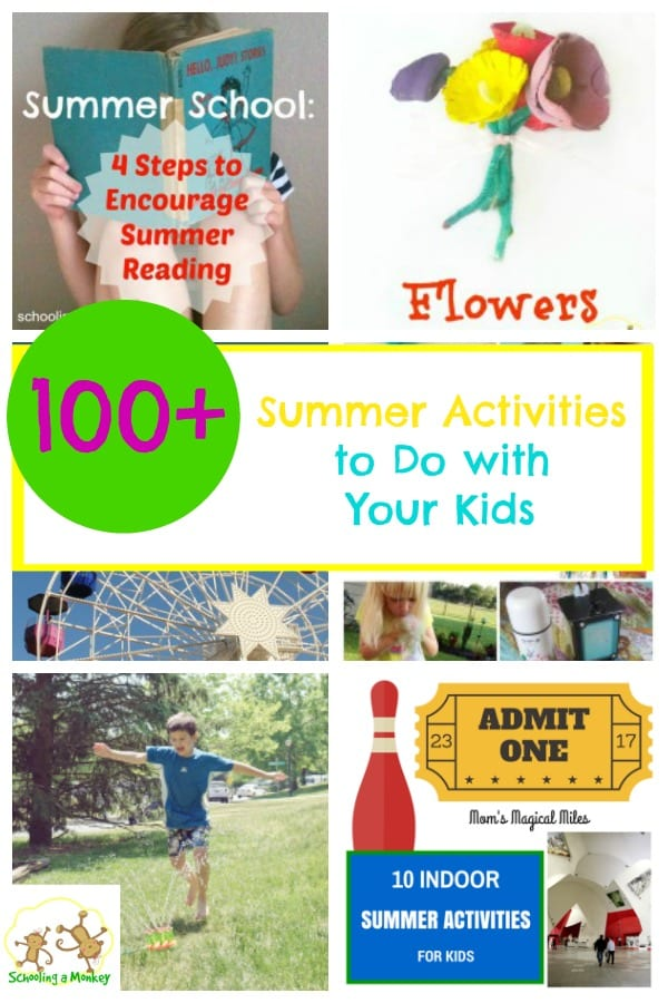Looking for creative ideas for summer family fun? Look no farther than this list of 100+ summer activity ideas!
