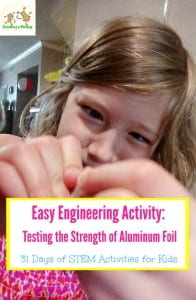 31 Days of STEM Activities for Kids: Mechanical Properties of Aluminum Foil