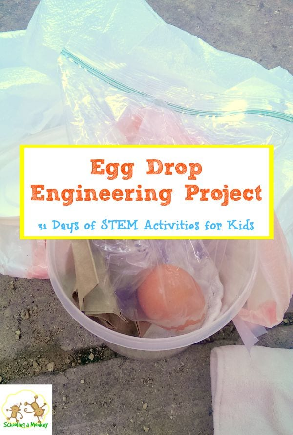 Learn the basics of engineering with the egg drop engineering project! Part of the 31 days fo STEM activities for kids series.