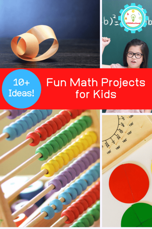 Kids bored with traditional math? These hands-on math projects are easy and fun for kids of all ages. Fun math projects for elementary make math fun again!