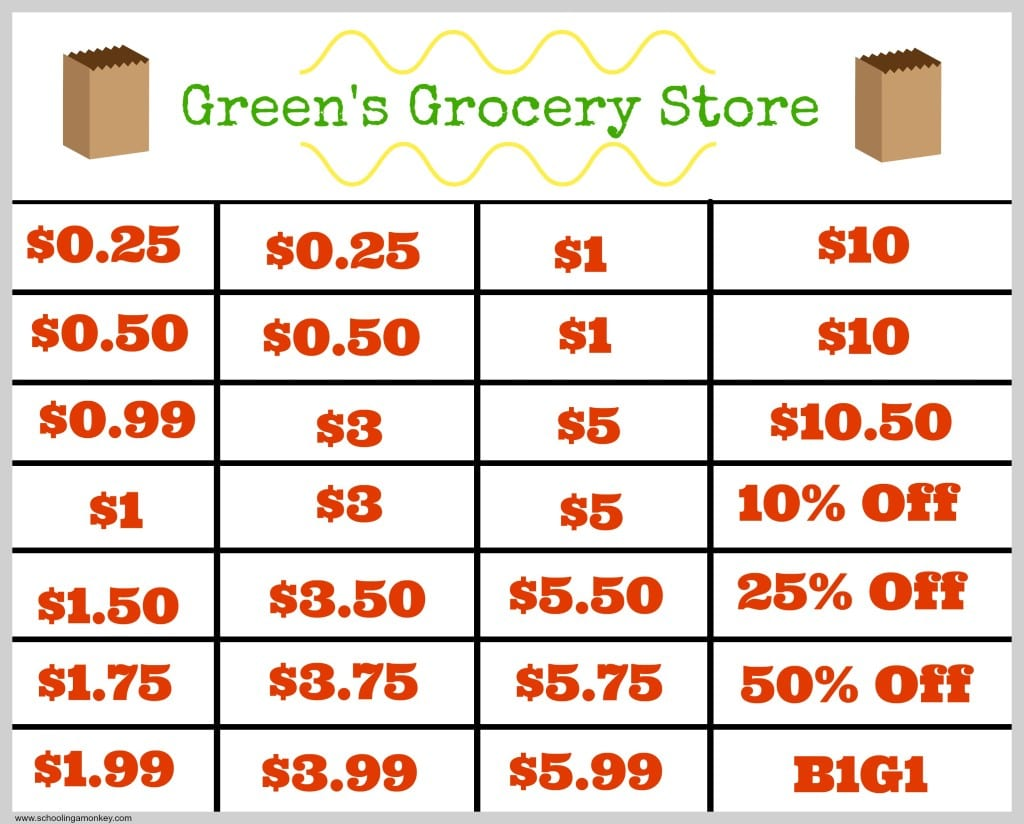 Grocery Store Math Worksheets Davezan – Grocery Store Math Worksheets