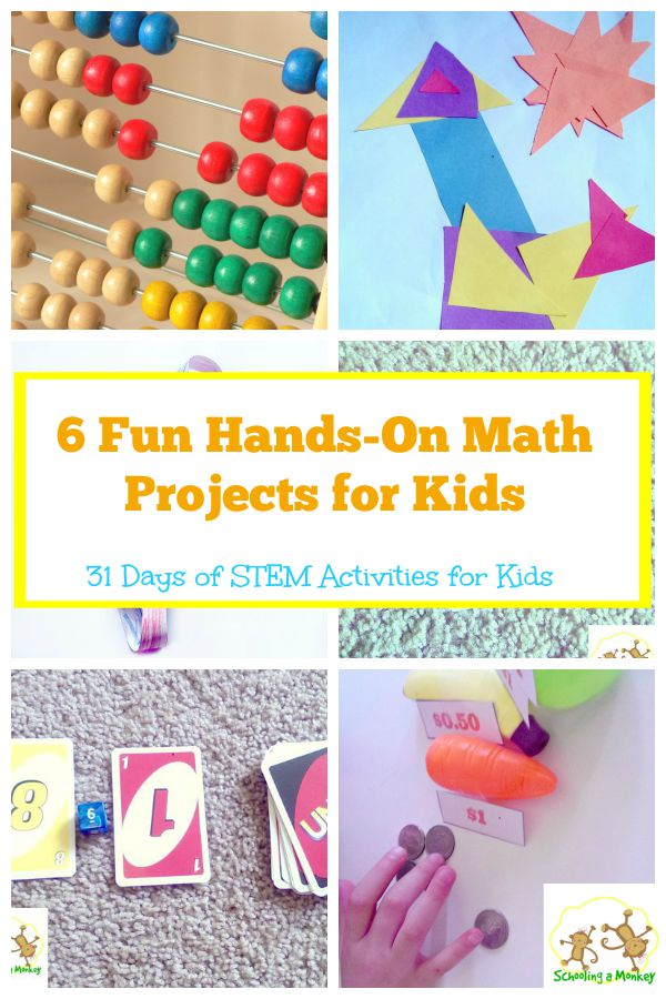 Kids bored with traditional math? These hands-on math projects are easy and fun for kids of all ages. Part of 31 days of STEM activities for kids.