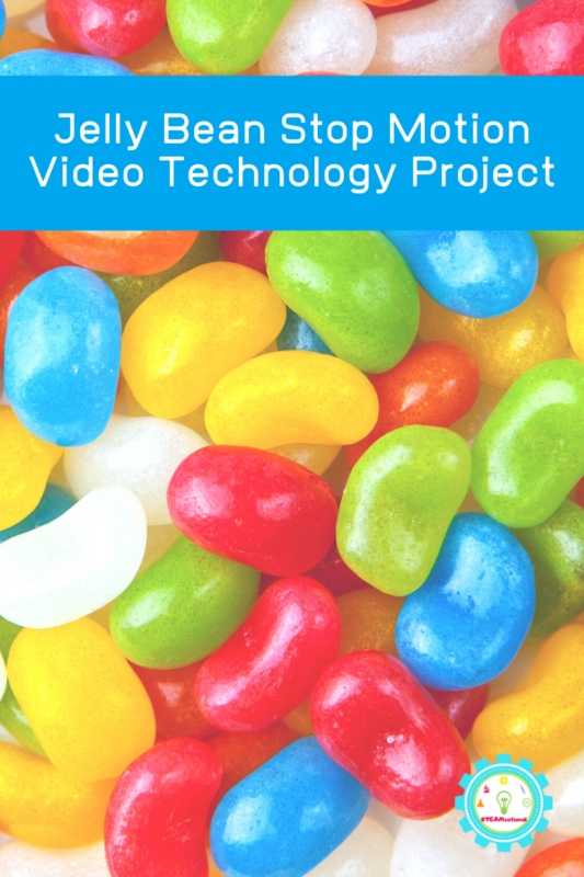 Learn how to make a stop motion video for kids using Jelly beans! It's a fun jelly bean STEM project for kids. Ideas for stop motion videos are endless!