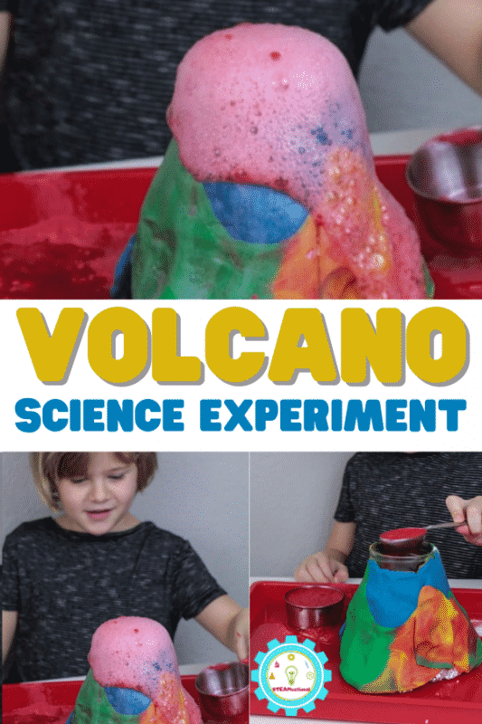 How to Do the Classic Baking Soda Volcano Science Experiment. Every kid needs to try it! This version uses a Baking Soda and Ketchup Reaction.