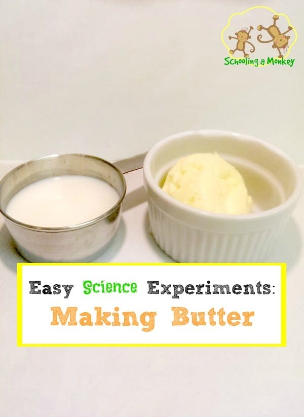 Kids bored this summer? Why not keep them occupied with easy and fun STEM activities for kids like this science experiment for making butter?