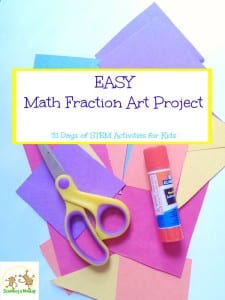 31 Days of STEM Activities for Kids: Math Fraction Art Project