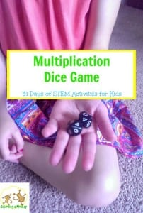 31 Days of STEM Activities for Kids: Multiplication Dice Game