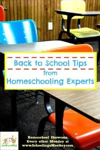 Homeschool Showcase: Homeschool Back to School Tips from Homeschool Experts