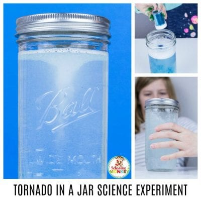 EASY TORNADO IN A JAR SCIENCE EXPERIMENT FOR KIDS