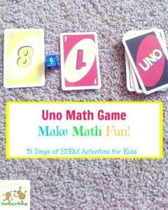 Tired of playing everyday Uno? Want a way to make it more educational? This Uno math game is a simple way to bring some math fun to playtime!