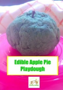Do you love apples? Then you will love this edible apple pie scented playdough recipe!