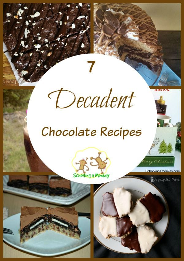 Do you love chocolate? Then you won't want to miss this round-up of 7 decadent chocolate recipes!