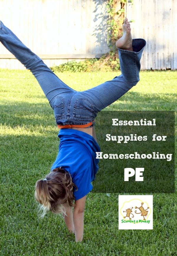 Wondering what you need to get started homeschooling PE? These essential supplies for homeschooling PE offer just what you need to get started!