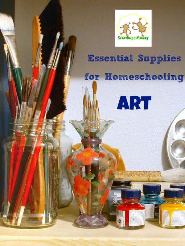 Wondering what you need to stock to teach homeschool art? This supply list tells you the essential supplies for homeschooling art.