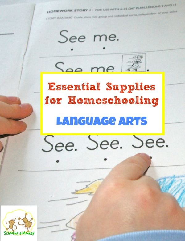 Essential Supplies for Homeschooling Language Arts