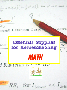 Essential Supplies for Homeschooling Math