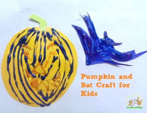 Pumpkin and Bat Craft for Kids