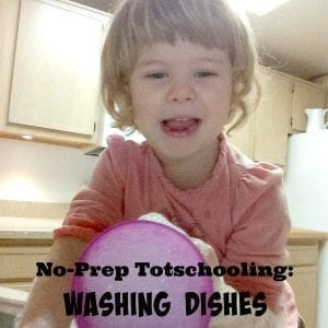 Looking for totschooling activities? Toddler water activities like washing dishes provide hours of fun for toddlers and preschoolers.