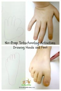 Simple Activities for Toddlers: Hand and Foot Drawing