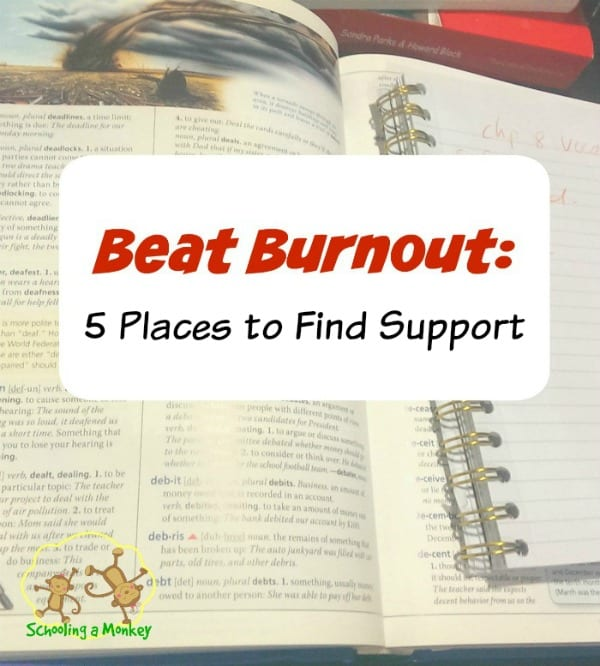 Feeling burned out by homeschooling? Get support and beat homeschool burnout for good with these practical and simple tips from Schooling a Monkey.