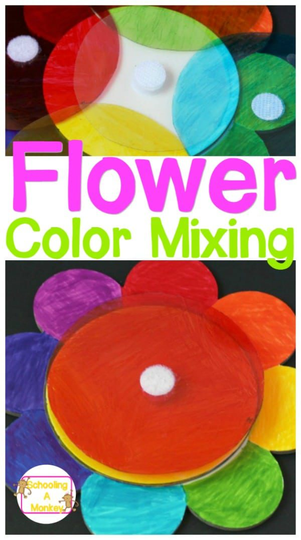 Preschoolers will learn about color mixing in this preschool color mixing flower busy bag activity! Learn what colors mix and blend without adult help!