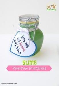 Printable Slime Valentines