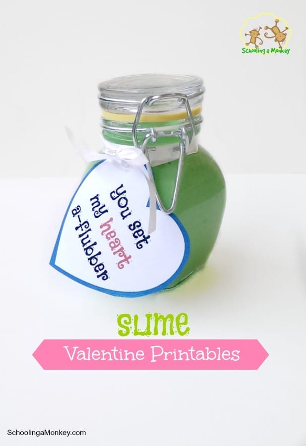 Love slime? Love Valentine's Day? Love free printable valentines for kids? Then you will love these slime valentines we made for Crafty Morning!