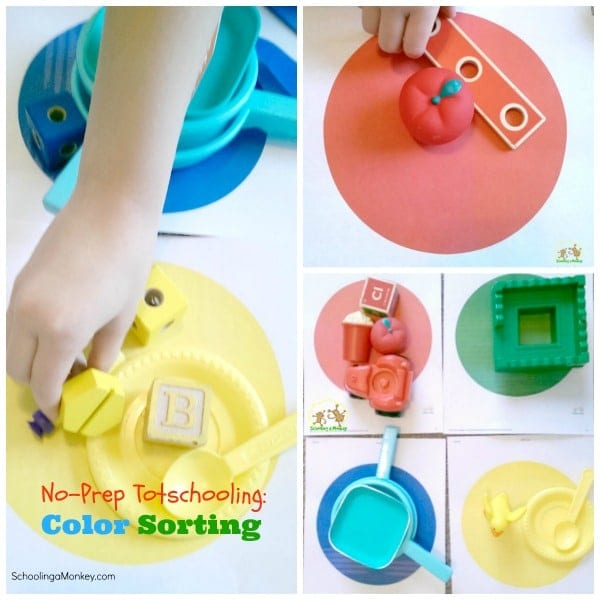 On-the-Spot Totschooling Ideas: Color Sorting