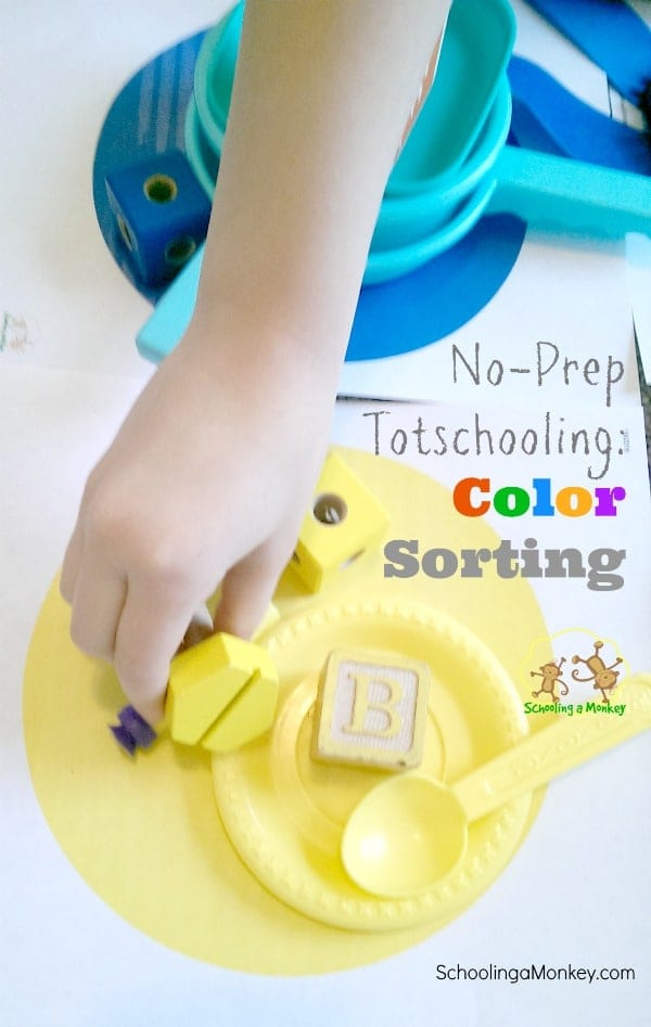 Looking for on-the-spot totschooling ideas? Toddlers love sorting colors and this simple printable will become your tot's favorite game.