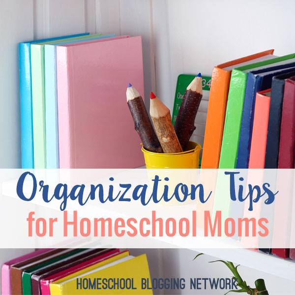 Feeling overwhelmed by homeschooling supplies? Use this one simple tip for organizing homeschool supplies and get your life back! (or at least your counter)