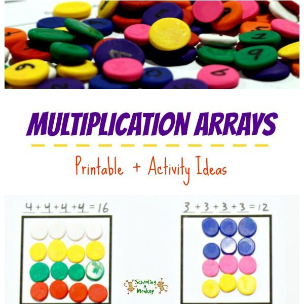 Multiplication Arrays Printable + Activity Ideas