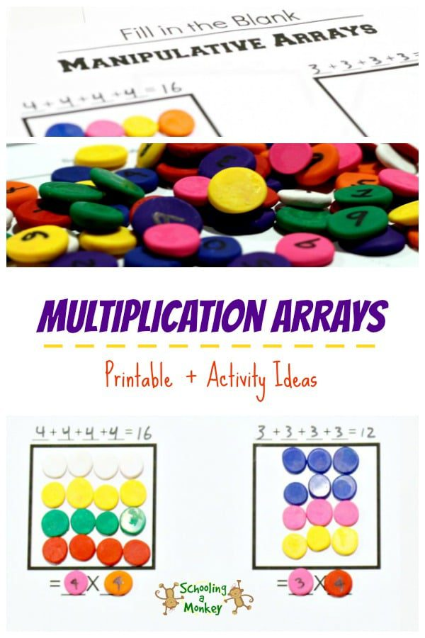 This multiplication arrays printable will help kids learn multiplication facts fast! Just  grab, print, and teach!