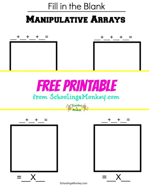Want to solidify multiplication facts with your students? This multiplication arrays printable will help even little kids understand multiplication.