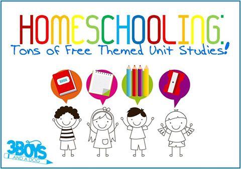 http://3boysandadog.com/homeschooling-freebies-themed-unit-studies/