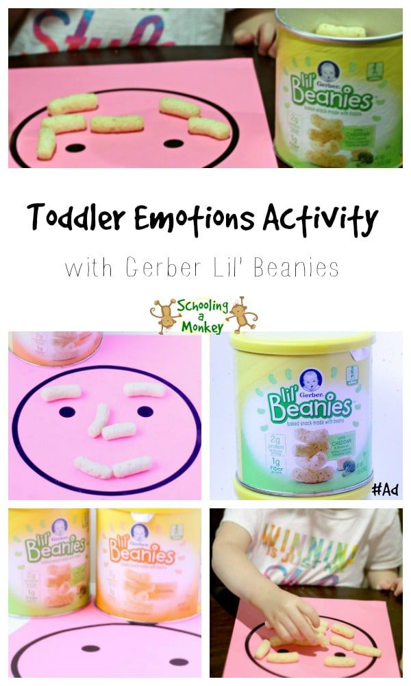 Love simple toddler activities? You'll love this emotion activity using Gerber Lil' Beanies found at Walmart! #ad