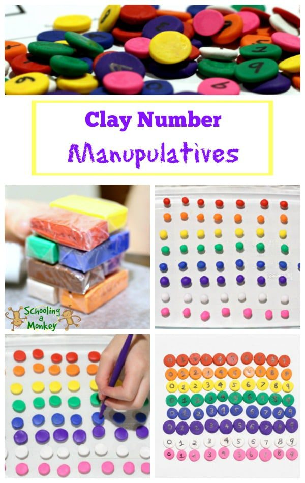 Looking for hands-on math activities? These homemade clay number manipulatives are perfect for learning a wide variety of math concepts!