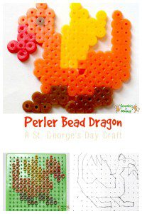 St. George's Day Craft: Perler Bead Dragon