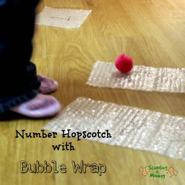 Bubble Wrap Activities: Gross Motor Number Hopscotch!
