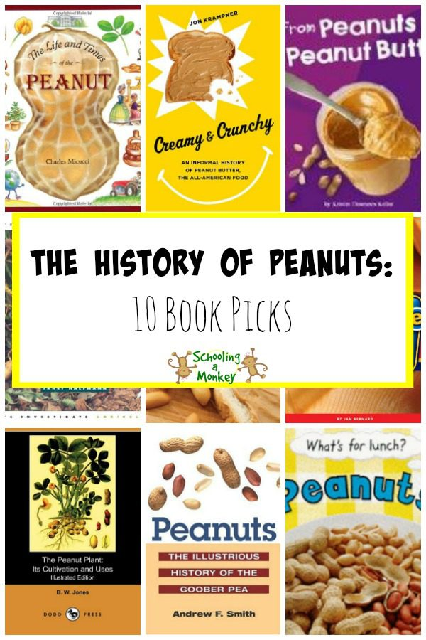 Celebrate National Peanut Month with these fun books about the history of peanuts! Learn all about the popular ground nut in these books.