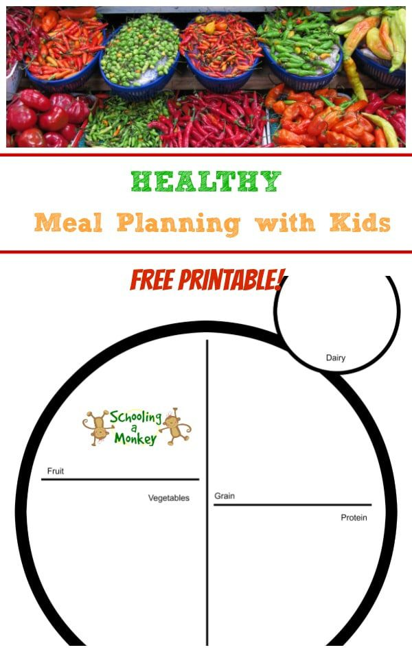 Want to encourage kids to eat better? Try meal planning with kids to encourage healthy eating habits for life with this free printable!