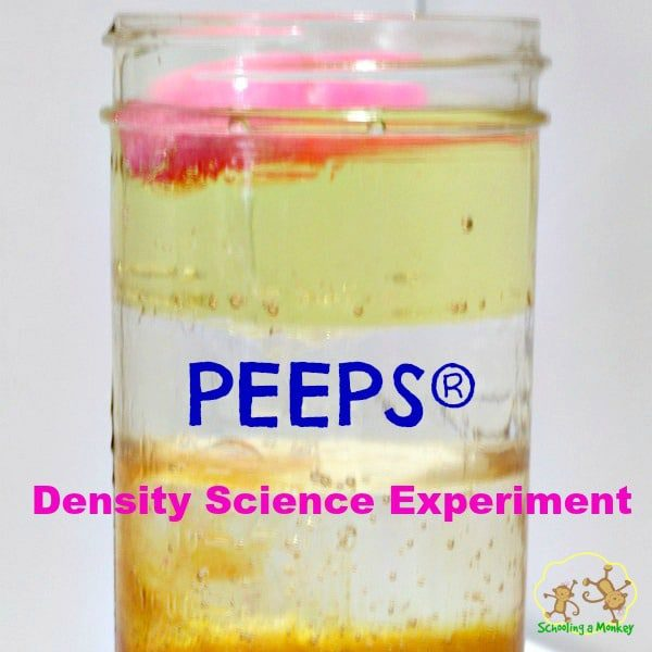 PEEPS are amazing and have so many uses beyond just being a sweet. Take your PEEPS into the classroom with this PEEPs density science experiment!