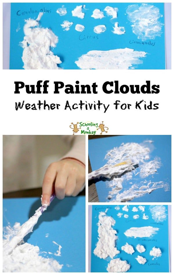 Help your children learn about clouds and weather with this activity for identifying cloud types using puff paint! A great STEM activity for kids.