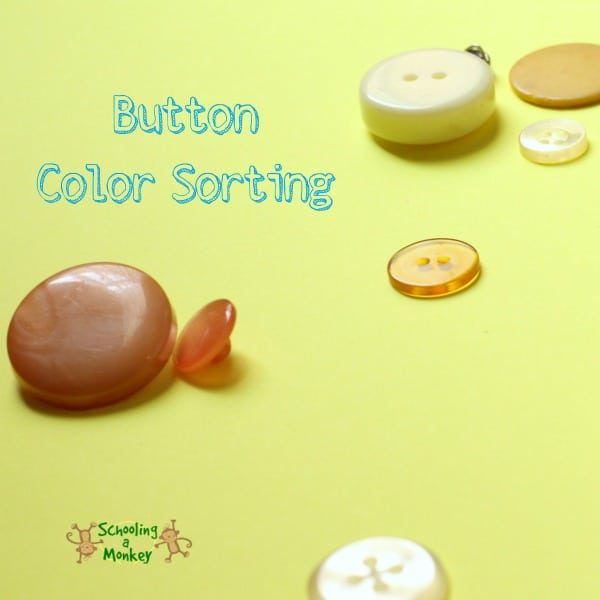 Have a preschooler? Have buttons? Then you will love this super easy button color sorting activity that helps preschoolers learn their colors!