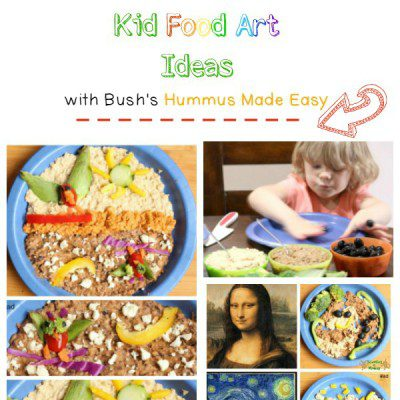 Sponsored: Edible Kid Food Art with Hummus Made Easy