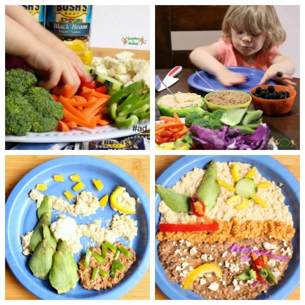 Kid food art is easy with Hummus Made Easy!