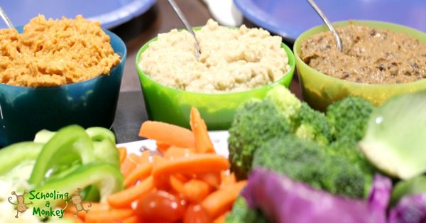 Want to serve healthy lunches for kids but short on time? Try these innovative kids healthy lunch ideas with Bush's Hummus Made Easy! #ad